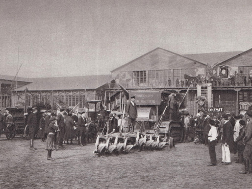 At the Moscow Agricultural Exhibition, 1923