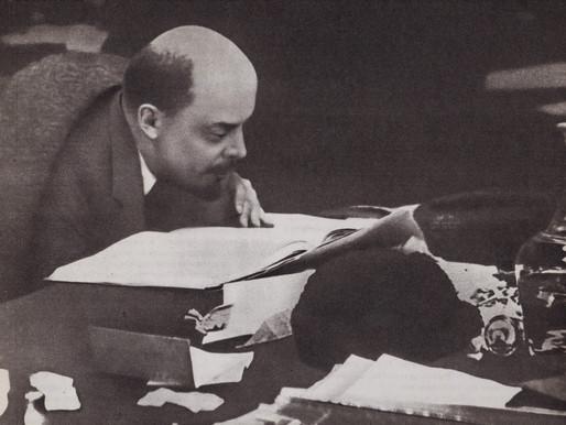 V. I. Lenin on the Presidium of the X Congress of the RCP(B) Sverdlovsk Hall of the Kremlin, 1920