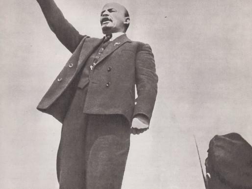 Lenin speaks on Red Square, May 1, 1919