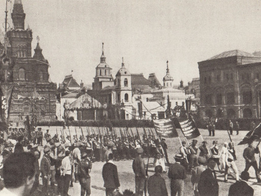 Red Army May Day Parade on Red Square, 1920