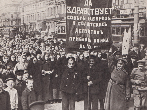 """Worker demonstration in Petrograd during the """"July Days"""", 1917"""