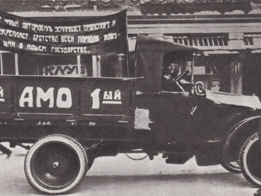 The first Soviet AMO-F-15 truck in Red Square, 1924