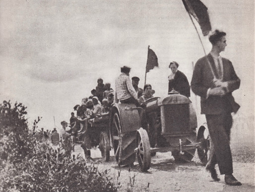 The first tractor arrives in the Red Rifleman Commune, Smolensk region, 1929