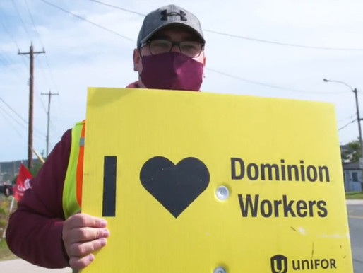 """""""Mr. Weston, give your employees a fair, decent, living wage"""": Striking Dominion workers"""