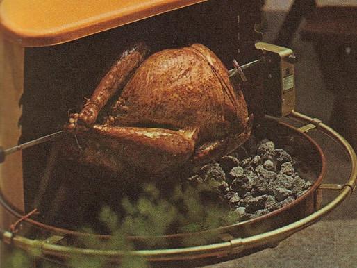 Whole Turkey on the Spit - Vintage Cookbook TBT