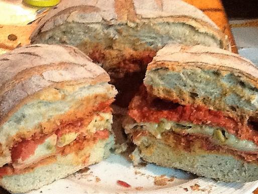 Deep Dish Pizza Sandwich