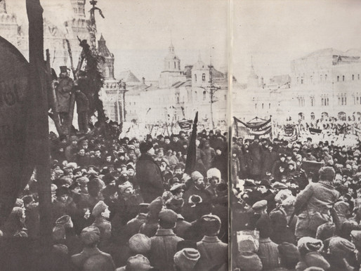 Lenin speaks at the funeral of Yakov Sverdlov, March 18 1919