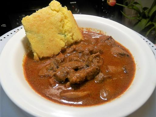 Beef Chuck Chili with Homemade Jalapeno Cornbread