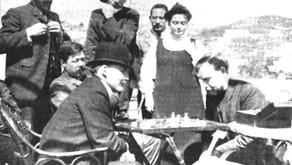 Snapshots of Lenin's chess game in Capri, 1908
