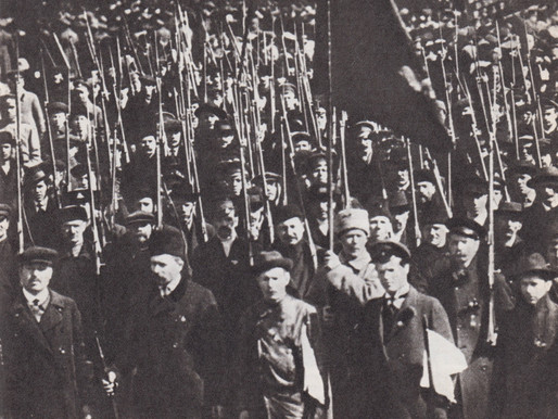 Red Guard of Petrograd at the May Day demonstration, 1917