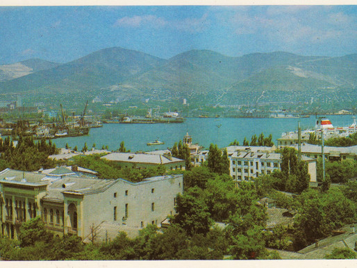 15 panoramic views of Soviet Novorossiysk, port and Hero City
