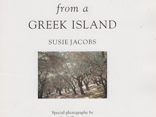 Recipes from a Greek Island w. White Bean Soup, Red Mullet in Grape Leaves, Pork w. Quince & more