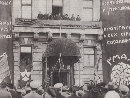 Pyotr Smidovich speaks on May Day in Moscow, 1918