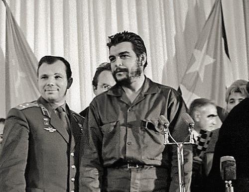 Comrades Yuri Gagarin and Ernesto Che Guevara, Moscow, November 11, 1964