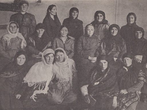 Krupskaya with the North Caucus delegates at the All-Union Women's Congress, 1927