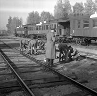 Militärt sjukhuståg i Örebro. År 1943.