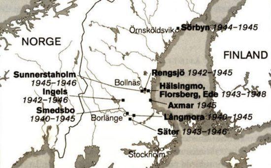 Sveriges 14 slutna och hemliga koncentrationsläger.
