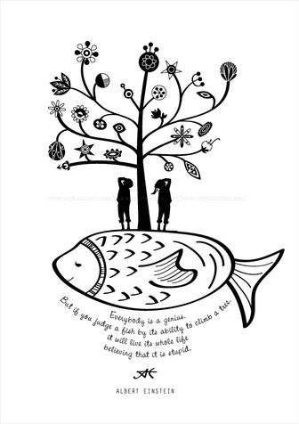 einstein's fish