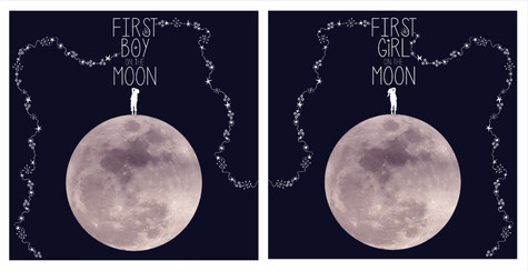 First boy and First girl on the Moon