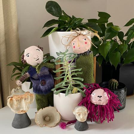 rag dolls & ceramic heads