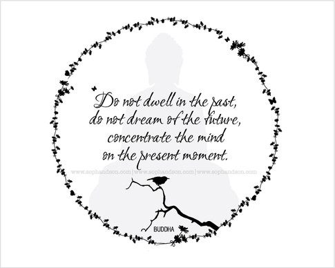 Do not dwell in the past... Buddha