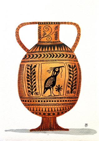 hellenic heron urn