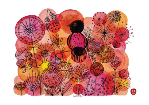 Bird Among the Flowers