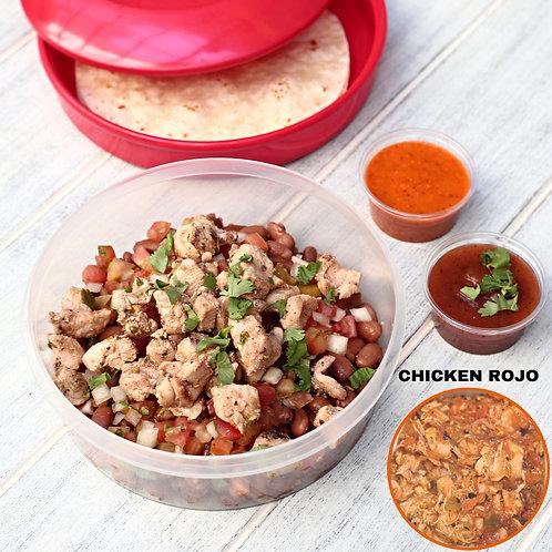 ทาโก้ไก่แดง Taco Bowl Chicken Rojo  / Lamonita