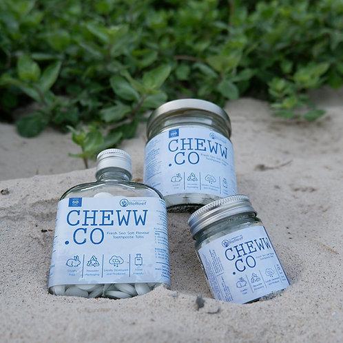 Salt Toothpaste tab / Cheww.co ยาสีฟันเม็ด สูตรเกลือ 30 เม็ด