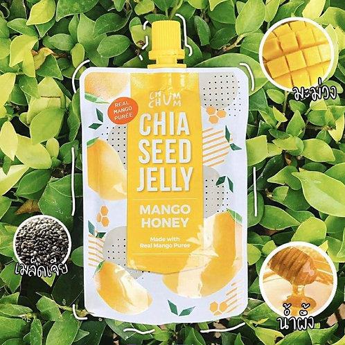 Chia seed jelly Mango Honey/ CHUM CHUM เยลลี่ เมล็ดเจีย มะม่วง น้ำผึ้ง