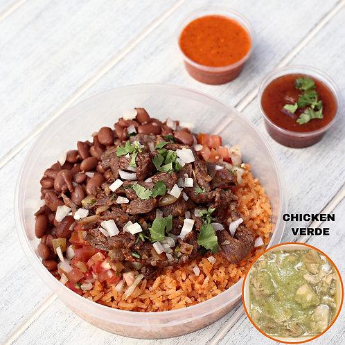 Naked Burrito Chicken Verde  / Lamonita เบอริโต้ ไก่ซอสเขียว ไม้มีแป้ง