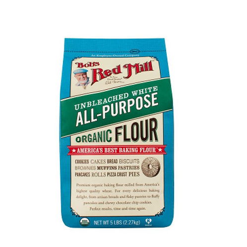 Organic Unbleached White All Purpose Flour 2.27kg /Bob's Red Mill