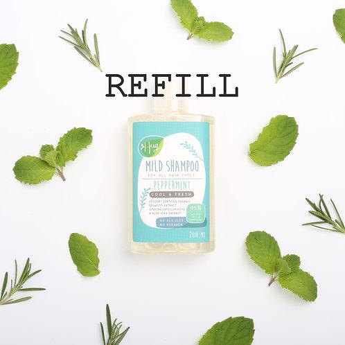 แชมพูมิ้นต์ แบบเติม Mild Peppermint Shampoo Refill 50G / HUG