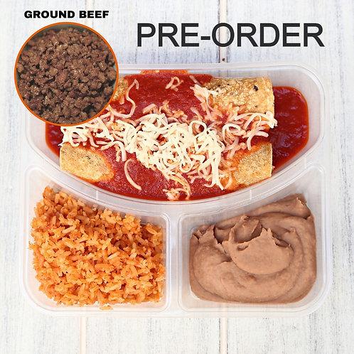 Enchiladas Ground Beef/ Lamonita เอนชิลาดา เนื้อบด