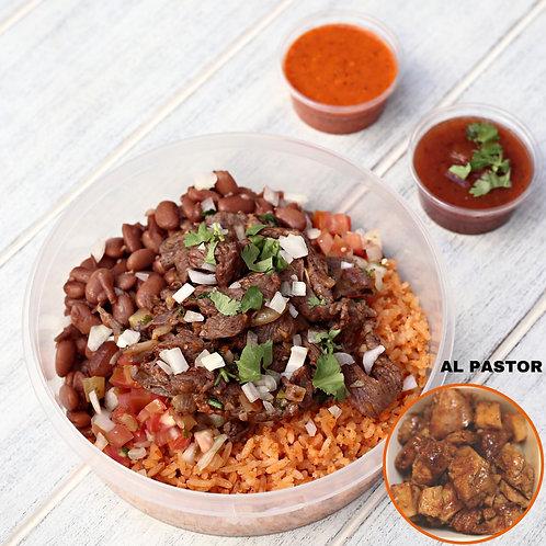 เบอริโต้ หมูหมักพริกย่าง ไม้มีแป้ง Naked Burrito Alpastor  / Lamonita