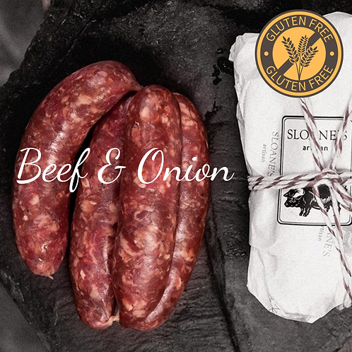 GF  Beef & Onion Sausage 500G ไส้กรอกเนื้อผสมหัวหอม