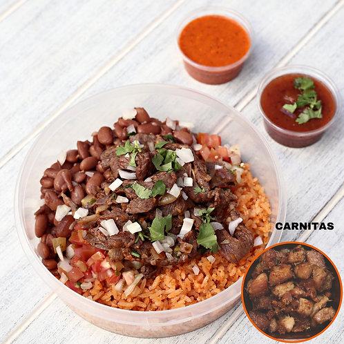 Naked Burrito Carnitas / Lamonita เบอริโต้ หมูอบ ไม้มีแป้ง