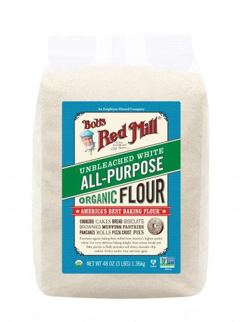แป้งเอนกประสงค์ Unbleached White All Purpose Flour 1.36kg / Bob's