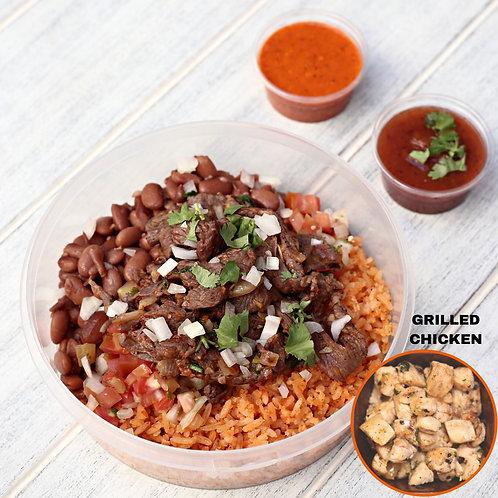 เบอริโต้ ไก่ย่าง ไม้มีแป้ง Naked Burrito Grilled Chicken  / Lamonita