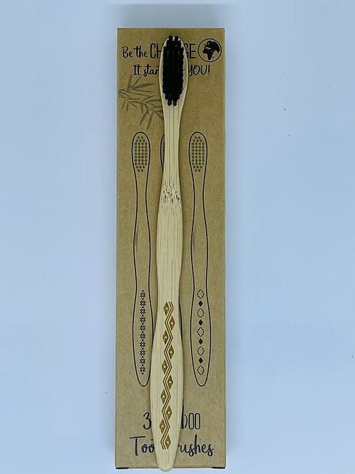 แปรงสีฟันไม้ 3 ด้าม Bamboo toothbrush pack of 3