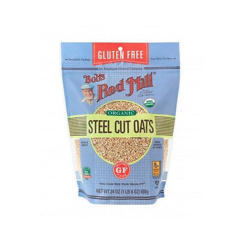 Gluten Free Organic Steel Cut Oats 680G/ Bob's