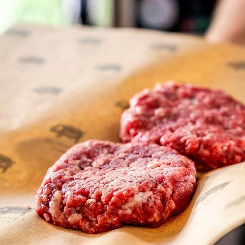 Beef Burger 125G*4 เบอร์เกอร์เนื้อดรายเอจ