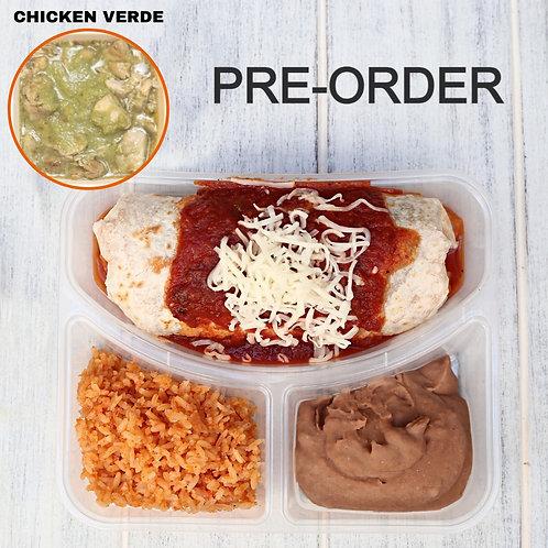 Wet Burrito Chicken Verde/ Lamonita เบอริโต้ชีส ไก่ซอสเขียว