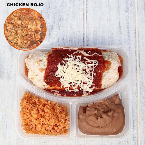 เบอริโต้ชีส ไก่ซอสแดง Wet Burrito Chicken Rojo/ Lamonita