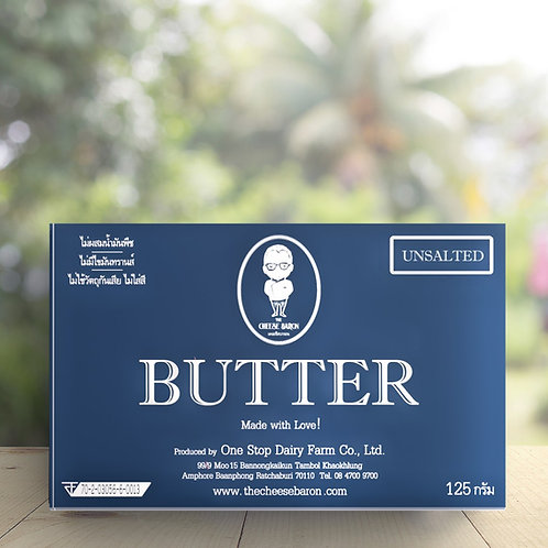 Unsalted Butter / The Cheese Baron 125G เนยจืด