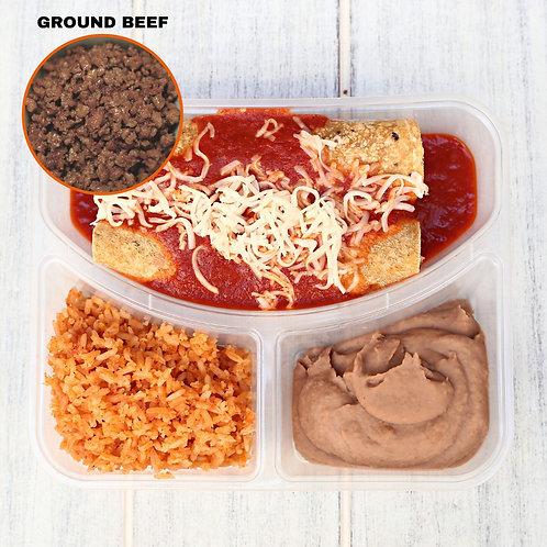 เอนชิลาดา เนื้อบด Enchiladas Ground Beef/ Lamonita