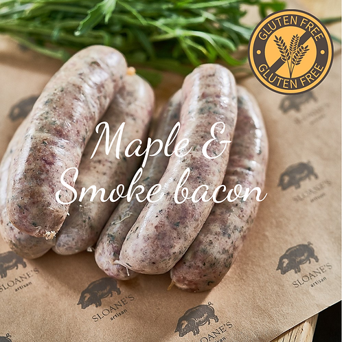 GF ไส้กรอกเบคอนรมควันและเมเปิ้ล 500G Maple & Smoked Bacon Sausage
