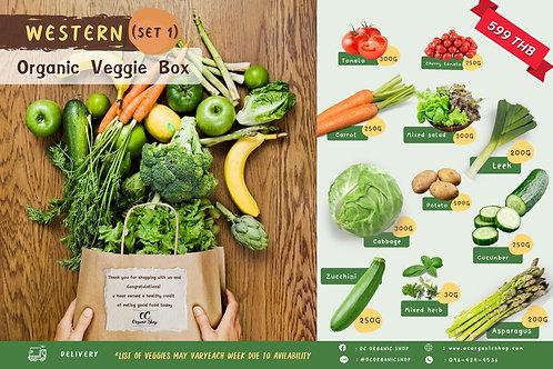 Organic Veggie box  set 1 : Western