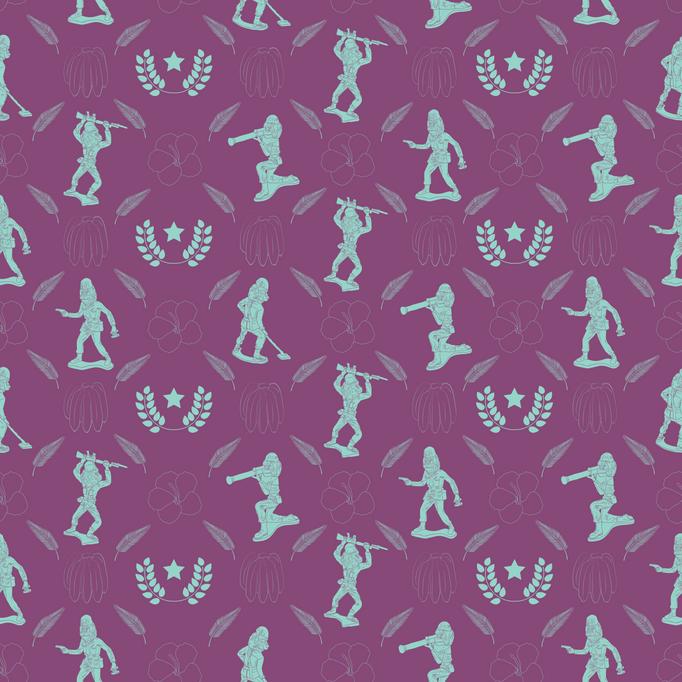 Toile Wallpaper   Purple Guerrilla
