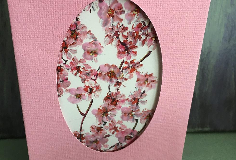 Unique Candle Card - Cherry Blossom Design